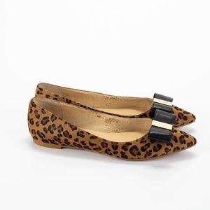 KATE SPADE Leopard Print Calf Hair Pointy Toe Flat